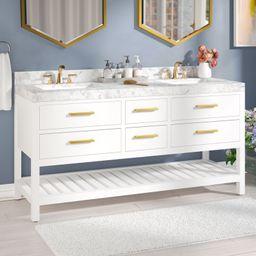 "Jauss 60"" Double Bathroom Vanity Set   Wayfair North America"