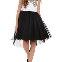 Girl's Floral-Trimmed Tulle Skirt Fit-&-Flare Dress | Lord & Taylor