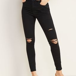 High-Waisted Distressed Rockstar Super Skinny Jeans For Women   Old Navy US