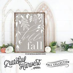 Hello Fall Sign Hand Painted Framed Wood -- Farmhouse Style Decor   Etsy (US)