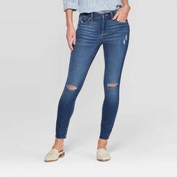 Women's High-Rise Distressed Skinny Jeans - Universal Thread™ Medium Wash | Target