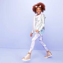 Girls' Marble Print Leggings - More Than Magic™ Purple | Target