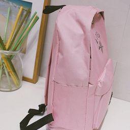 Girls Heart Print Pocket Front Backpack   SHEIN
