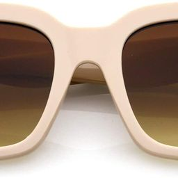 Retro Oversized Square Sunglasses for Women with Flat Lens 50mm | Amazon (US)