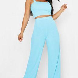 Scuba Crepe Crop + Trouser Co-Ord   Boohoo.com (US & CA)