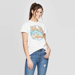 Women's Short Sleeve Baja California Graphic T-Shirt - Mighty Fine (Juniors') - White   Target