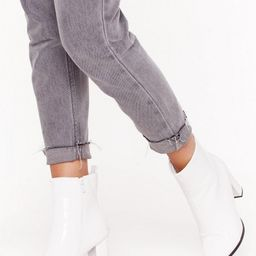 No Point to Prove Patent Faux Leather Boots | NastyGal (UK, IE)