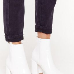 Pointed Patent Flare Heel Ankle Boot | NastyGal (UK, IE)