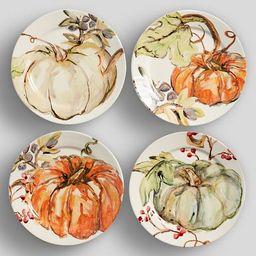 Harvest Pumpkin Appetizer Plate, Set of 4 - Assorted | Pottery Barn (US)