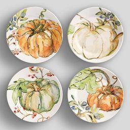 Harvest Pumpkin Salad Plates, Set of 4 - Assorted | Pottery Barn (US)