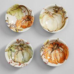 Harvest Pumpkin Snack Bowl, Set of 4 - Assorted | Pottery Barn (US)