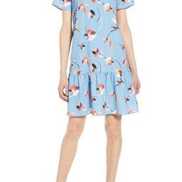 Short Sleeve Ruffle Hem Dress   Nordstrom