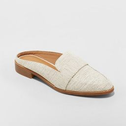 Women's Amber Wide Width Backless Loafer Mules - Universal Thread™ | Target