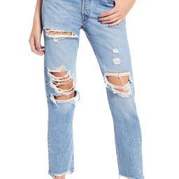 501® Ripped High Waist Straight Leg Jeans   Nordstrom