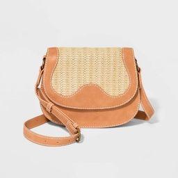 Saddle Crossbody Bag - Universal Thread™ Vachetta | Target