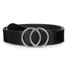 O ring Golden Buckle Fashion Women Leather Belts for Pants Jeans, Plus Size Waist Ladies Designer... | Amazon (US)