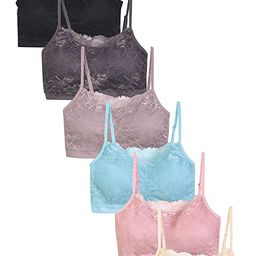 Sofra 6-Pack Wireless Seamless Lace Bras Padded Bralettes Adjustable Straps Variety Color   Amazon (US)