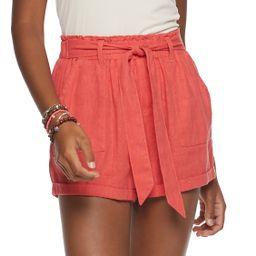 Juniors' SO® Super High-Rise Paperbag Shorts   Kohl's