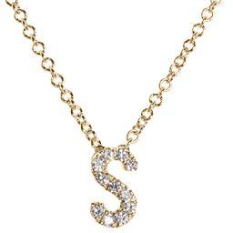 18k Gold Pavé Diamond Initial Pendant Necklace | Nordstrom