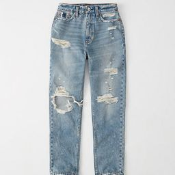 Ripped High Rise Mom Jeans | Abercrombie & Fitch US & UK