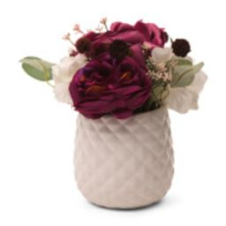 Faux Rose Hydrangea In Ceramic Pot | TJ Maxx