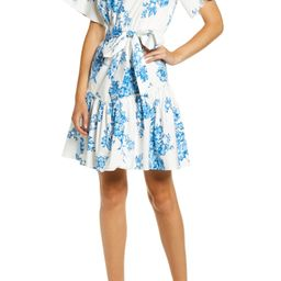 Ruffle Front Tie Stretch Cotton Dress   Nordstrom