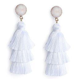 Me&Hz Colorful Layered Tassel Earrings Bohemian 3 Tier Big Dangle Drop Earrings for Women Girls T...   Amazon (US)