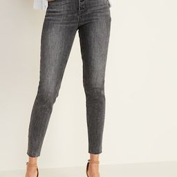 High-Waisted Button-Fly Rockstar Super Skinny Ankle Jeans For Women | Old Navy US