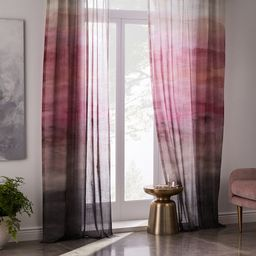 Sheer Cotton Painted Ombre Curtains (Set of 2) - Dusty Blush | West Elm (US)