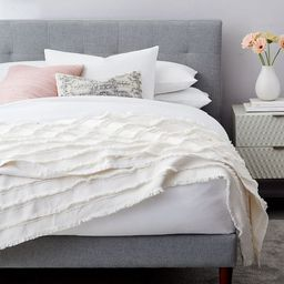 Fringe Blanket - White | West Elm (US)