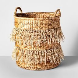 "18"" x 16.3"" Water Hyacinth Fringe Basket Natural - Opalhouse™ | Target"