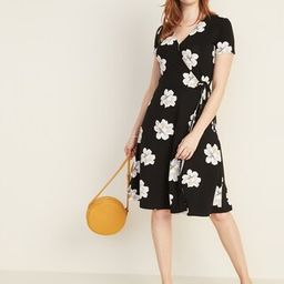 Waist-Defined Faux-Wrap Jersey Dress for Women   Old Navy US