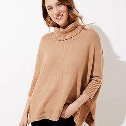 Turtleneck Poncho Sweater | LOFT