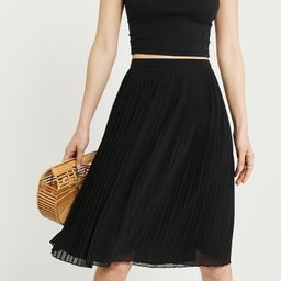Pleated Midi Skirt   Abercrombie & Fitch US & UK
