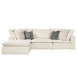 Universal Furniture Curated White Palmer 4 Piece Sectional 681541 610 | Bellacor | Bellacor