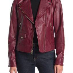 MICHAEL Michael Kors | Asymmetrical Leather Moto Jacket | Nordstrom Rack | Nordstrom Rack