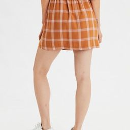 AE High-Waisted Plaid Button Front Mini Skirt   American Eagle Outfitters (US & CA)