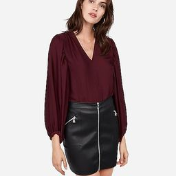 high waisted zip front (minus the) leather mini skirt | Express