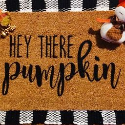 Hey there pumpkin fall welcome doormat | Etsy (US)