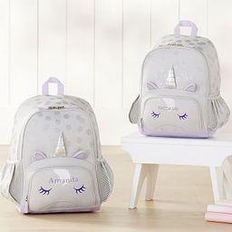Mackenzie Critter Gray Unicorn Backpack | Pottery Barn Kids