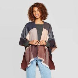 Women's Cozy Check Ruana - Universal Thread™ | Target