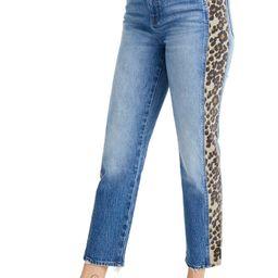 Leopard Tux Classic Straight Leg Crop Jeans   Nordstrom