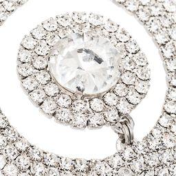 Alessandra Richembellished drop hoop earrings | Farfetch (US)
