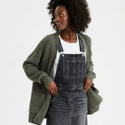 AE Button Front Long Cardigan | American Eagle Outfitters (US & CA)