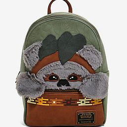 Loungefly Star Wars Ewok Suede Mini Backpack - BoxLunch Exclusive | BoxLunch