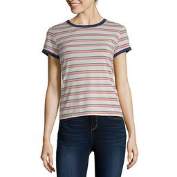 Arizona-Womens Crew Neck Short Sleeve T-Shirt Juniors | JCPenney