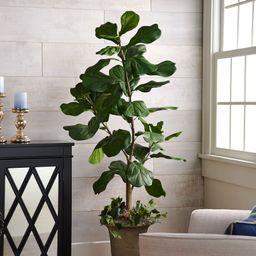 5' Faux Fiddle Leaf Tree in Starter Pot by Valerie   QVC