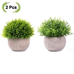 Coolmade 2-pack Artificial Potted Green Grass Artificial Flowers Fake Plant for Bathroom/Home Dec...   Walmart (US)