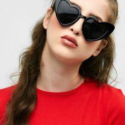 Heart Shape Sunglasses   BLACK AND PINK BRIGHT BLACK+GREY CLARET CLEMENTINE PINK FRAME+PINK LENS ...   Zaful UK