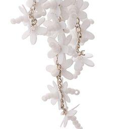 Oscar de la Rentafloral drop earrings   Farfetch (US)